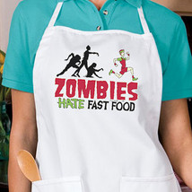 Zombies Hate Fast Food New Apron, Kitchen, Parties, Events, Gifts, You Choose Co - $19.99