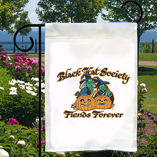 Black Hat Society Witches New Small Garden Yard Flag, Home Decor, Fiends Forever