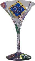 Lolita Martini Collection  21 Hand Painted Martini Glass 21st Birthday - $29.10