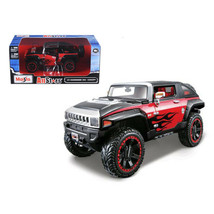 2008 Hummer HX Concept Black/Red All Stars 1/24 Diecast Model Car by Mai... - $20.92