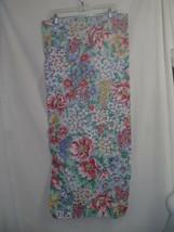 Set of 3  Liz Claiborne Liz At Home Valances 15 X 84 Green Blue Pink Floral  - $37.04