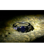 OSIRIS AUSER GOD of UNDERWORLD WISDOM KARMA Sapphire Ring izida haunted ... - $444.00