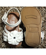 Girl's Size 2 White Floral Glitter & Rhinestone Teeny Toes Baby Toddler ... - $14.00