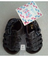 Baby Girl's Size 2 Infant Toddler Brown Sandals By Small Steps Fits 3 to... - $14.50