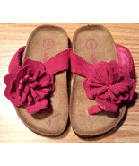 Girl's Size 5 Baby Toddler Pink Leather Upper Floral Designed Cherokee S... - $13.00