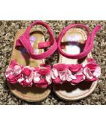 Girl's Size 2 Pink Floral & Rhinestone Sesame Street Baby Toddler Sandals - $14.00