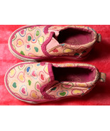 Girl's Size 4 Pink Heart Desinged Slip On The Children's Place Loafer Sh... - $12.00