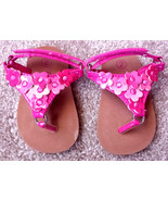 Baby Girl's Size 2 Teeny Toes Pink Floral Designed Sandals - Velcro Encl... - $14.00