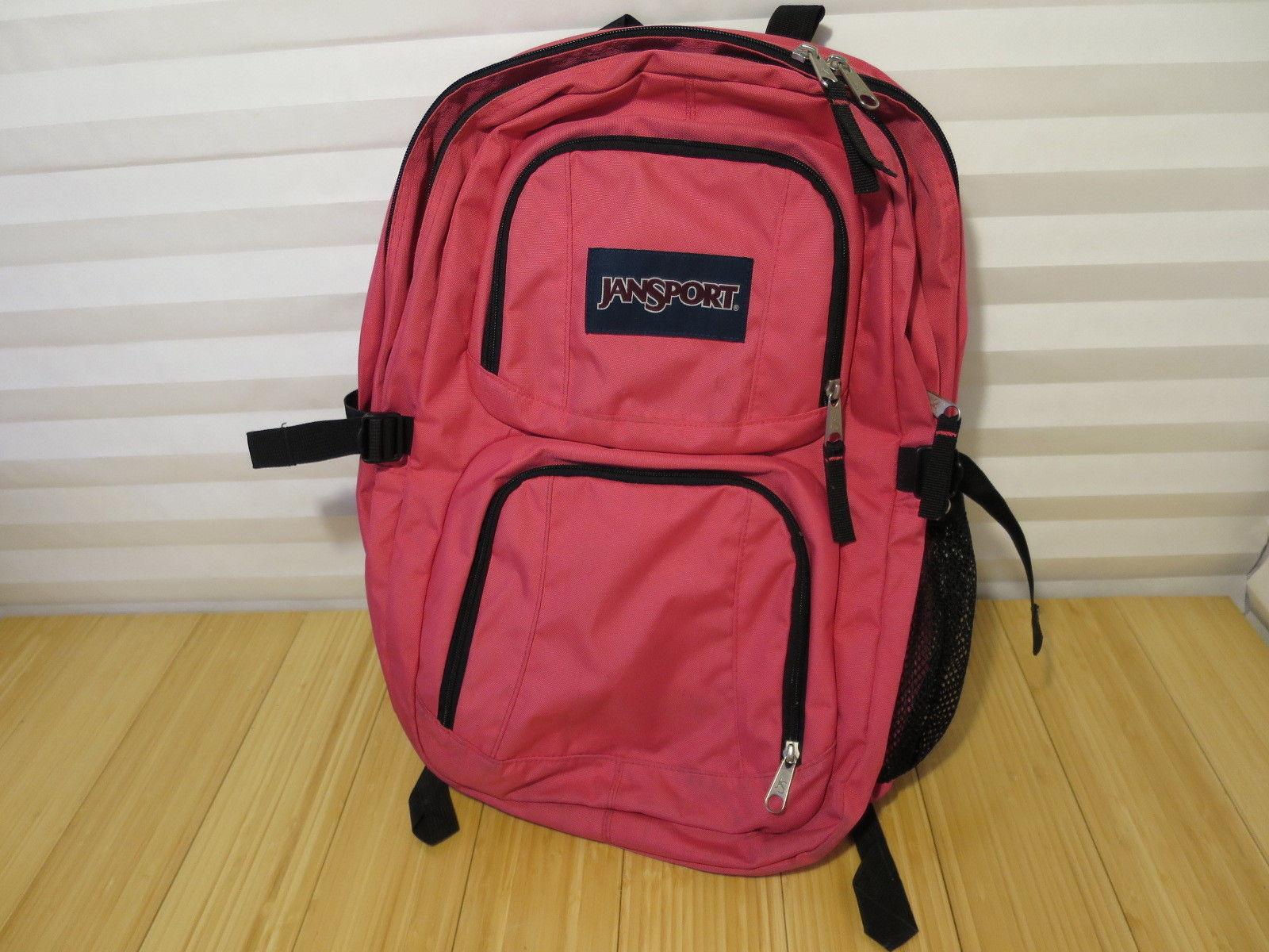 Original Retro Pink & Black JANSPORT Big Student Backpack TB5O0713 4501240547