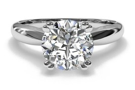 1.25CT Forever One Moissanite Double Prong White Gold Ring - $757.94+