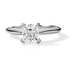 1.10CT Princess Cut Forever One Moissanite Double Prong White Gold Ring - €670,61 EUR+