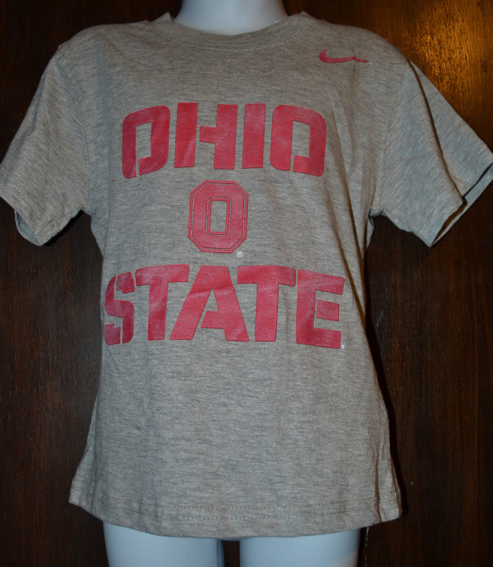 YOUTH NIKE OHIO STATE GRAY T-SHIRT SIZES 4 or 6 or 7 NWT
