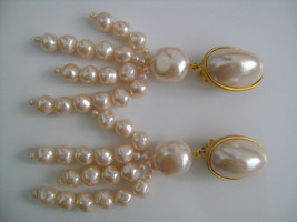 Lovely Pink Satin Oval Round/Nugget Baroque Faux Pearls Gorgeous Fancy G... - $34.00