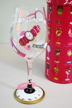 Lolita Love My Wine Glass It's 5 O' Clock 5:00 Somewhere Hand Painted Re... - $24.74