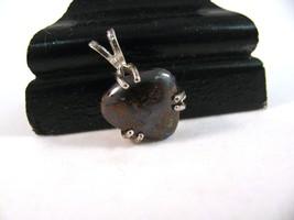 Subtle Sparky Boulder Opal Pendant Sterling Silver RKS504 - $30.00