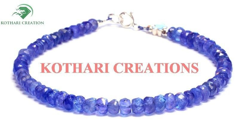 "NATURAL TANZANITE 3-4MM RONDELLE FACETED 7"" LOOSE BEADS BEADED BRACELET JEWELRY"