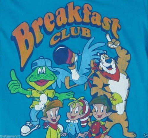 New Authentic Kellogg's Characters The Breakfast Club Juniors T-Shirt