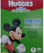 HUGGIES Little Movers Diaper Pants, Size 5, 50 Count Mickey Mouse - $37.40