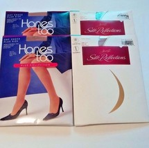 NEW 8 Pr. Pantyhose 2 size 3Q + 6 Size EF- Hanes and Silk Reflections FR... - $29.03