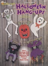 Halloween Hang-Ups, Plastic Canvas Pattern TNS 983041 Dracula Witch Ghos... - $4.95