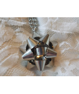 Silver Christmas Bow Necklace - $7.50