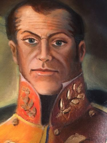 Hurtado : Oil On Canvas / Military Portrait In Garb / Spanish Art