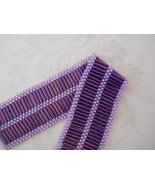 Lavender Bracelet, Hand Woven, Bugle Bead & Seed Beads, Silver Plate Clasp - $30.00