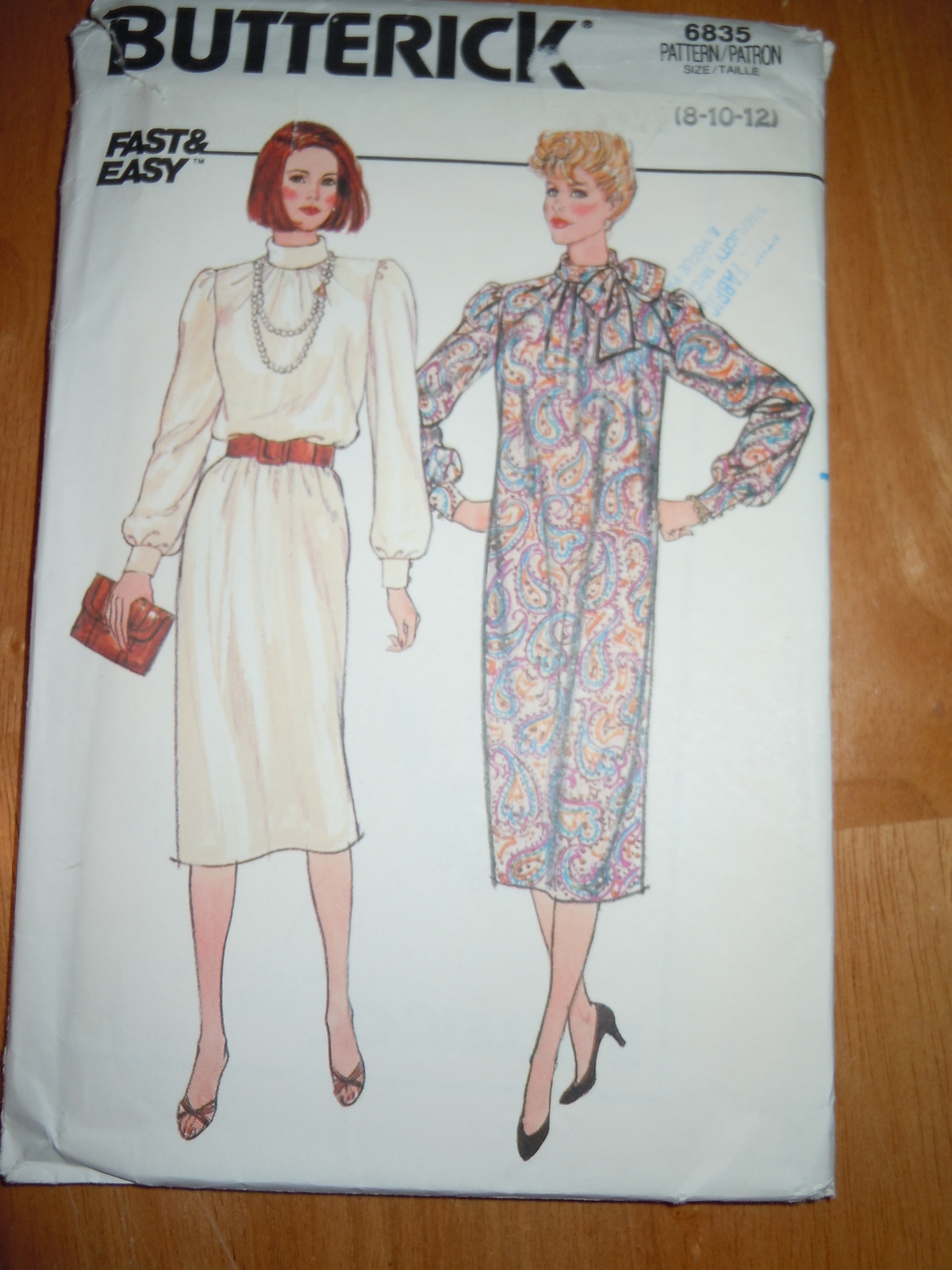 Butterick Misses Size 8-12 Chemise Dress #6835