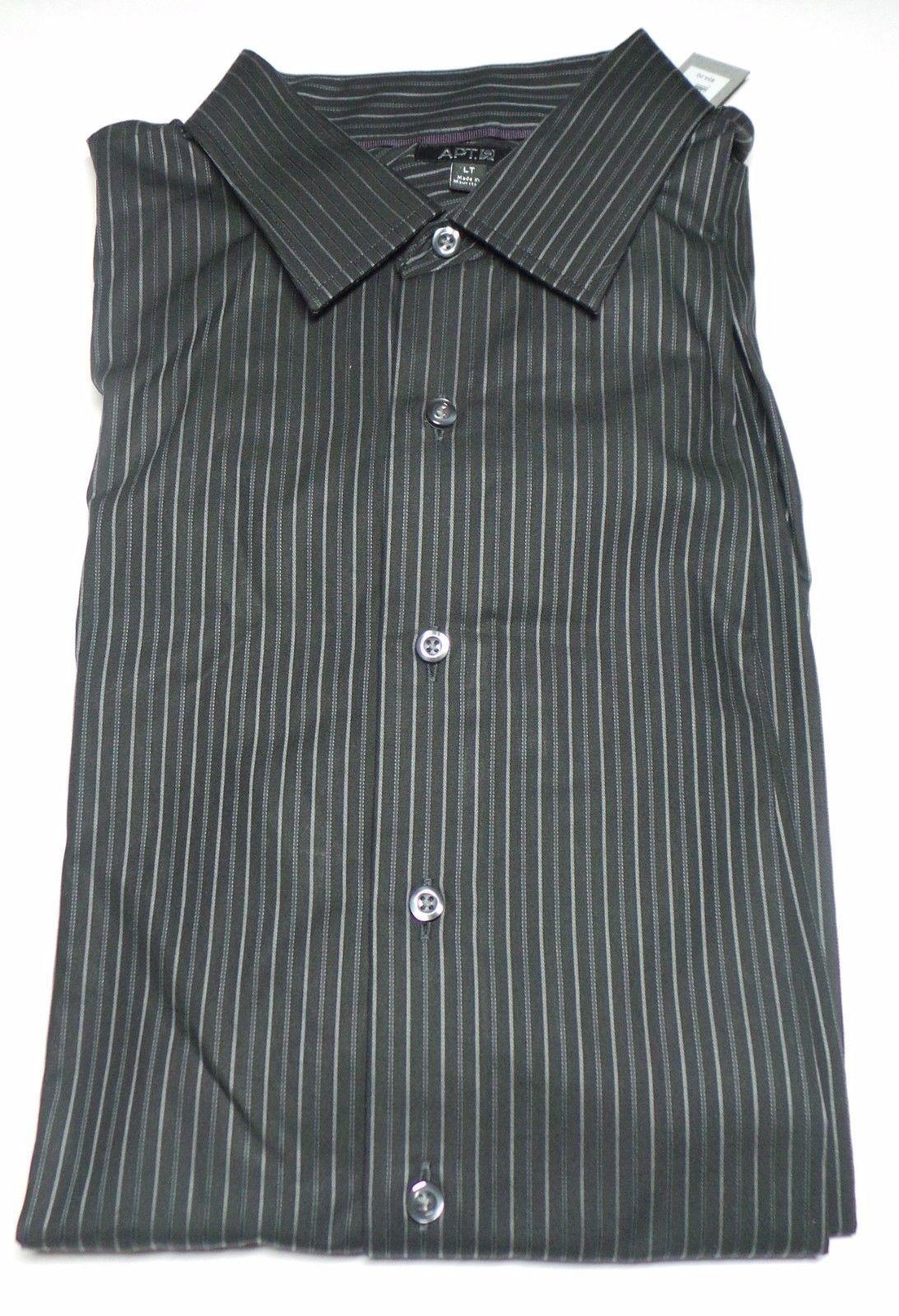 Apt 9 Full Sleeves Big Tall Mens Dress Shirt Size L T