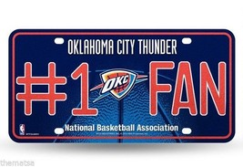 OKLAHOMA CITY THUNDER #1 FAN METAL MADE IN USA  AUTO TAG CAR LICENSE PLATE - $27.07