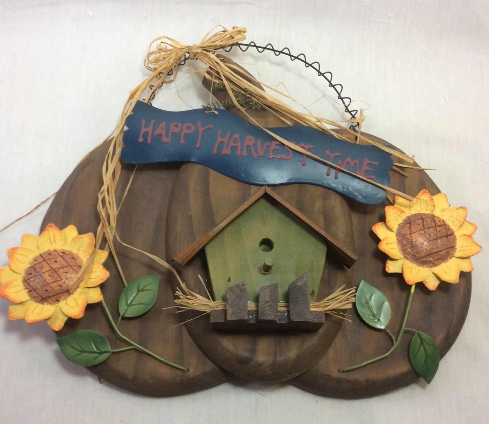 Vinttage Hollidays Halloween, Thanksgiving Wall Decoration, Wood and Metal.