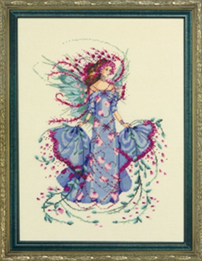 """COMPLETE XSTITCH KIT """"OCTOBER OPAL FAIRY MD132"""" by Mirabilia"""