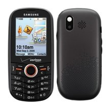 Samsung Intensity U450 QWERTY Verizon or PagePlus Black Cell Phone Refurbished - $40.00