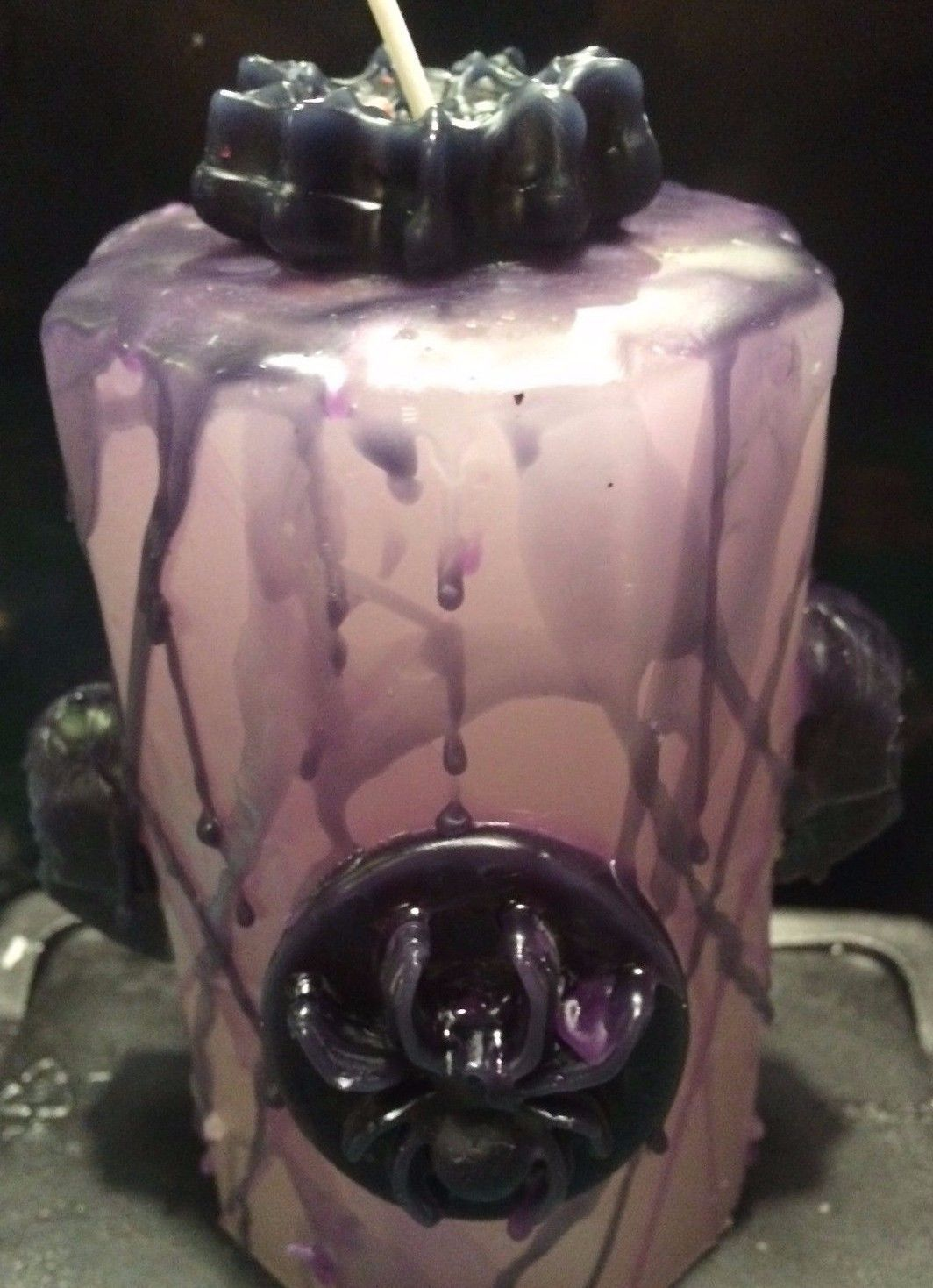 SKULL & SPIDER CANDLE   By Joanndles