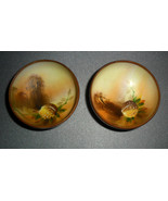 NIPPON Small Footed Bowls Hand-Painted Nut Acorn - $124.95
