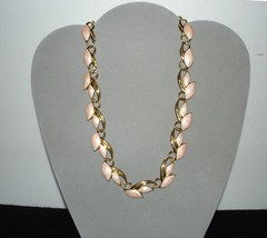 "TRIFARI Pink Enamel Goldtone Necklace 18"" - $89.95"