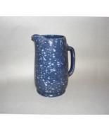 Frankoma #81 One Quart Blue Spatterware Pitcher - $154.95