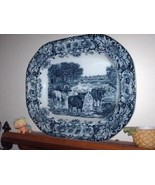 Antique Wedgwood Flow Blue Cow Platter - $1,395.00