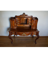 Stunning Antique French Baroque Carved Writing Desk Secretary - $8,100.00