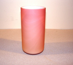 ANTIQUE CASED SATIN GLASS RASPBERRY OPALESCENT TUMBLER - $249.95