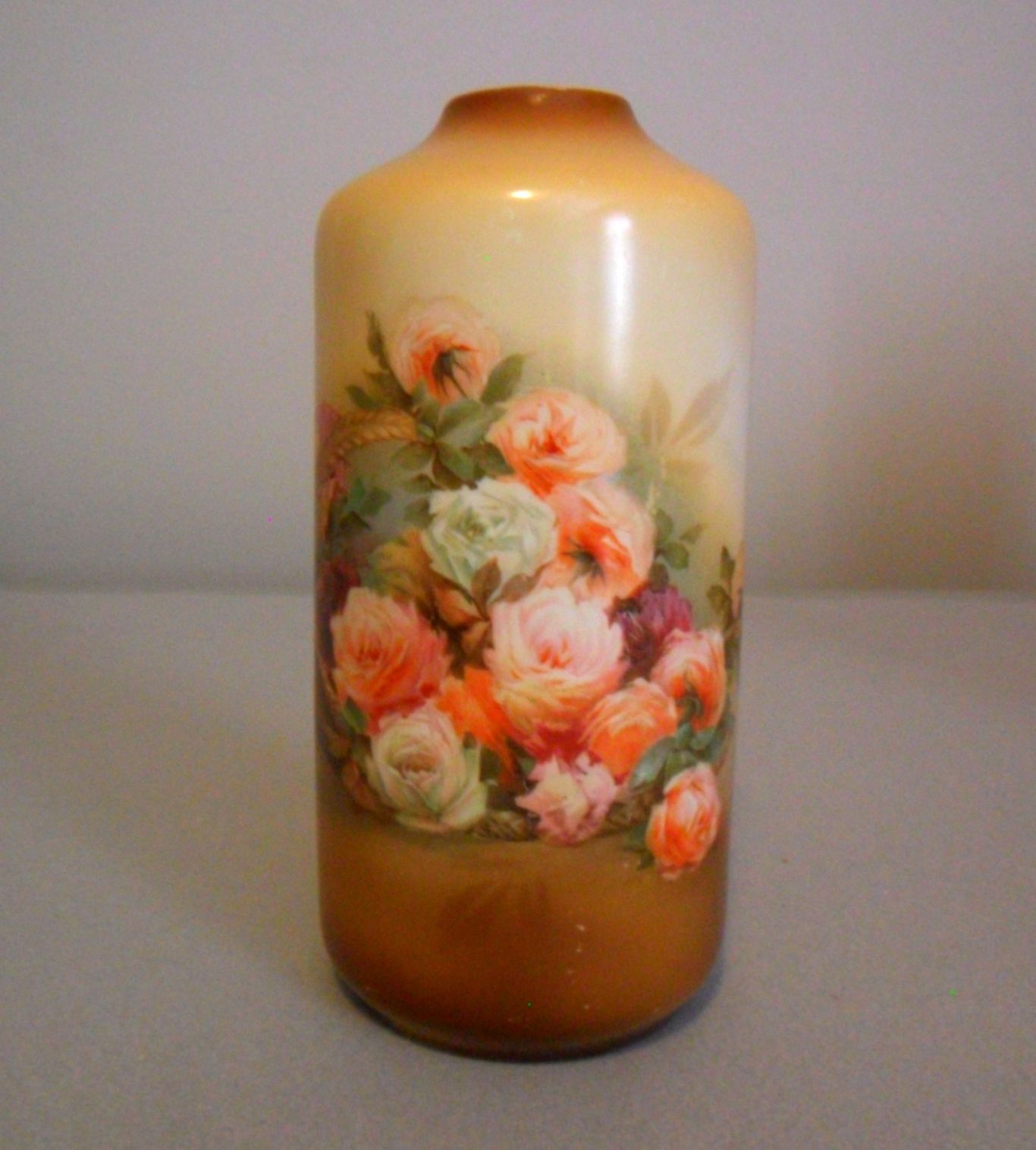 R S Germany Hand Painted Floral Vase