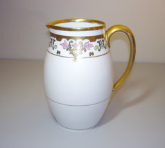 """Pickard China Hand Painted Pitcher Gold Rim 8"""" Tall - $395.00"""