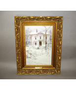 Richard Schmid VICTORIAN WINTER Canvas Print Ornate Gold Frame - $295.00