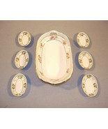 NIPPON Relish Dish and 6 Salt Cellars Hand Painted - $294.95