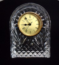 "Waterford Crystal Arched Clock 6 1/2"" Tall - $197.95"