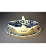 Antique Meissen Blue Onion Double Handled Sauce-Gravy Boat W/Underplate - $194.95