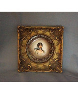 C. Tielsch Altwasser Germany Portrait Plate in Ornate Plaster Frame - $450.00