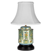 Vintage Blue Floral Tea Caddy Small Unique Lamp... - $107.53