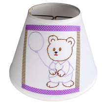 Vintage Hand Embroidered Teddy Bear Quilt Piece on New Lamp Shade - Free... - €30,30 EUR