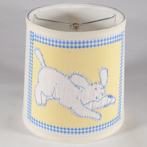 Vintage Hand Applique Dog Quilt Piece on New Lamp Shade - Free Shipping - €30,30 EUR